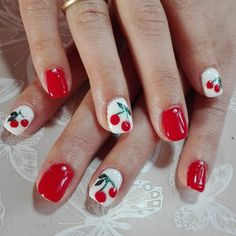 Red Cherry Nails for Spring and Summer