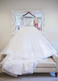 wedding dress bridal gown in the Bridal Suite at the Trump Winery Barn