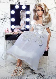 https://flic.kr/p/MkQjTU | Wedding day | ITBE Nigh Strike Monogram BFMC Principessa dress 2015 National Barbie Convention Vanity & Stool