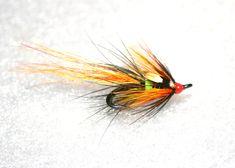 Wliie Gunn Double Hook Salmon fly on a partridge patriot