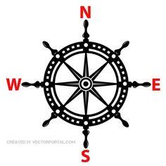 Ship helm vector illustration.