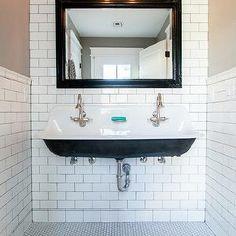 custom bathroom with cast iron trough sink by rafterhouse bathroom pinterest trough sink sinks and iron
