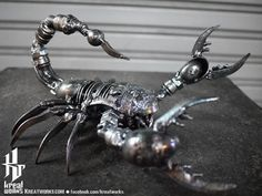 Metal Sculpture  Metal Poison Scorpion small item by Kreatworks, $68.00