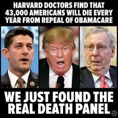 Harvard doctors find that Americans will die every year from repeal of Obamacare. Caricatures, Mafia, Republican Party, Gop Party, Republican Senators, Political Views, Right Wing, Inevitable, Humor
