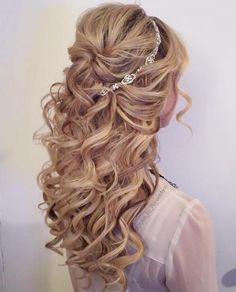 Half-up Bridal Style with curls