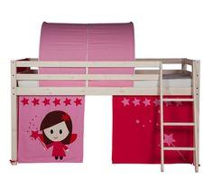 Lits Superposés Et Mezzanines - Rideau pour lit mi-haut et HAPPY superposé83-20207 décor rose