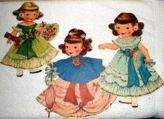 How cute are these?  I know I had these paper dolls as well.