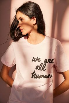 Slide View: 1: The Style Club We Are All Human Tee
