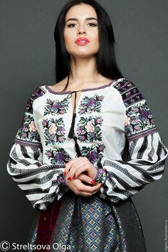 Блузки ручной работы. Вышитая сорочка вышиванка