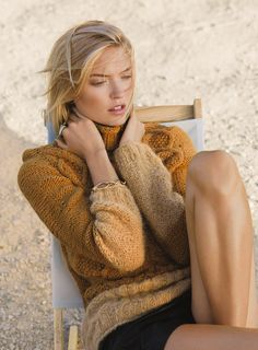 "stormtrooperfashion:Martha Hunt in ""Cold Comfort"" by Hans Neumann for Lucky Magazine, November 2014"