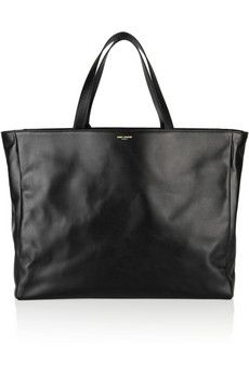 baby bag lust Saint Laurent The Shopping leather tote | NET-A-PORTER