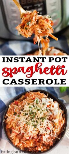 Instant pot Spaghetti Casserole can be ready in minutes for a one pot meal loaded with flavor. Your family will love this easy spaghetti casserole. Pressure Cooker Spaghetti, Best Pressure Cooker, Instant Pot Pressure Cooker, Pressure Cooker Recipes, Spaghetti Casserole, Baked Spaghetti, Beef And Potato Stew, Pasta Dishes, Pasta Meals