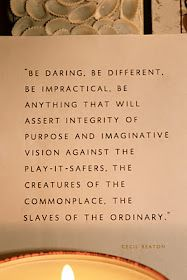 I like this although I am a play-it-safer and creature of the commonplace (and like it that way)