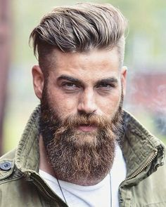 Check out the newest beard styles for 2020 with ideas for short, full, and long beards along with Beard and Company's rated beard oils, balms, and sprays that keep your facial hair soft and healthy. Proudly handmade in the USA with worldwide shipping. Beard Styles For Men, Hair And Beard Styles, Best Undercut Hairstyles, Viking Hairstyles, Mens Hairstyles With Beard, Mens Hair With Beard, Hipster Hairstyles Men, Hipster Haircut, Rock Hairstyles