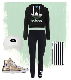 sportwear by letsbemermaids on Polyvore featuring moda, Topshop, adidas Originals, Converse and MICHAEL Michael Kors