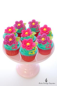 Flower Power! by Little Cottage Cupcakes, via Flickr