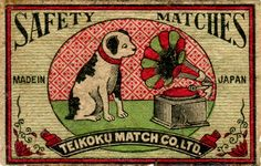 Japanese safety match labels.