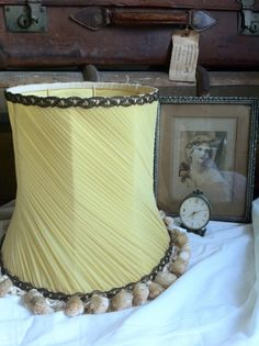 We love this vintage lampshade such a great colour - http://thenostalgiaexchange.wordpress.com