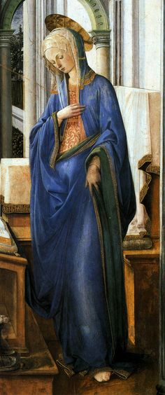 preciosa virgen de Filippo Lippi - Annunciation (detalle) - (1443)