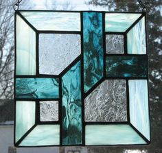 Stained glass quilt square by Barbara's Glassworks.