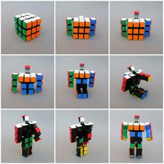 LEGO Rubik's Cube is more than meets the eye Lego Transformers, Lego Mecha, Lego Rubiks Cube, Lego Dc Comics, Casa Lego, Lego Bots, Micro Lego, Amazing Lego Creations, Lego Activities