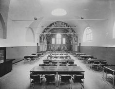 MARIO LABÒ Arredi della sala di lettura della Biblioteca Universitaria Genova, via Balbi 3 1934-1935
