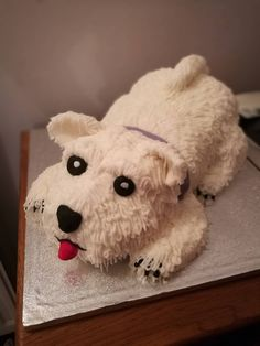 [Homemade] by me Westie dog cake #recipes #food #cooking #delicious #foodie #foodrecipes #cook #recipe #health