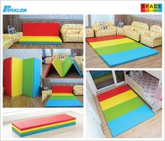 Kids Space Folder playmat 140_PRIME SPACE folder is made of non toxic PU (polyurethane) and PE (polyethylene) foam material. It can be transformed into a sofa, a standing screen, a play tunnel and lots more.  size: 2000 x 1400mm thickness: 40mm Packaging size: 1430 x 530 x 200mm (folded and packed inside a carton box) Features - supports and absorbs impact - provides insulation, it can shield your child from the 'cold' floor - easy to clean and maintain. www.smallsmallworld.com