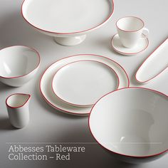 Abbesses Tableware Collection – Red – BURKELMAN