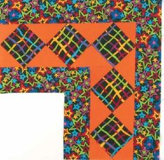 Diamond Star Squares Quilt Border Pattern pdf