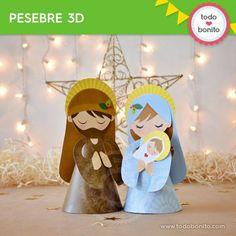 Niño Jesús : Pesebre 3D - Todo Bonito Xmas, Christmas Ornaments, Holiday Decor, 3d, Celebration, Green Christmas, Cardboard Toys, Merry Christmas, Nativity Scenes