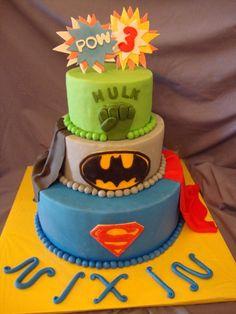Ultimate Super Hero Birthday Cake