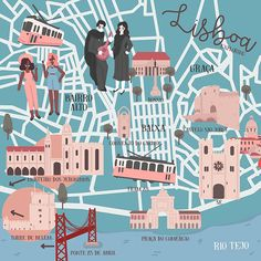 Alice Negri - Lisbon map