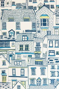 New Ideas House Drawing Illustration Cities City Drawing, House Drawing, Cityscape Drawing, Cityscape Art, Drawing Hair, Sketch Drawing, Building Illustration, House Illustration, Design Illustrations