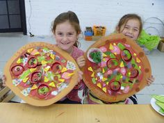 "Food art...pizza pARTy (Pop Art/Artists)  Love this idea!  Perhaps toss in ""Cloudy with a chance of meatballs?"""