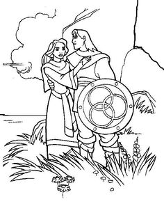 The Magic Sword: Quest for Camelot Coloring pages for kids. Printable. Online Coloring. 17