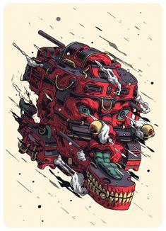 Caída de la Raíz / Serigrafía by Smithe, via Behance