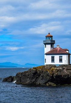 Lime Kiln Lighthouse, San Juan Islands - Just 80 miles north of Seattle, the San Juan Islands are part of the US state of Washington  #travel #pacificnw #washington #islands #sanjuan #pnw