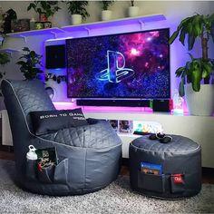 Ultimate Gaming Room, Best Gaming Setup, Gaming Room Setup, Gamer Setup, Gaming Chair, Gamer Bedroom, Bedroom Setup, Sala Geek, Small Game Rooms