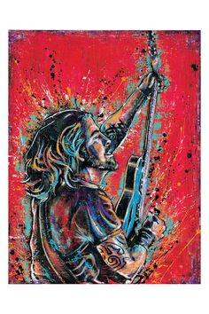 Dave Grohl Learn to Fly 12 x 18 High Quality Art Print by PointBlankDesign, $20.00