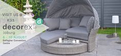 Save the Date - We will see you at Dcorex Johannesburg 6 - 9 August Convention Centre, Outdoor Furniture, Outdoor Decor, Bed, Creative, Home Decor, Decoration Home, Stream Bed, Room Decor