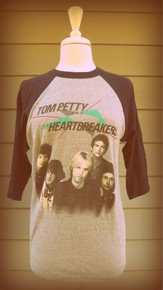 """Vintage Tom Petty and the Heartbreakers 1983 concert tour t-shirt.the back of it had a guitar and said """"Let that sucker blast"""". Vintage Concert T Shirts, Vintage Band Tees, Vintage Jerseys, Concert Tees, Concert Posters, Rock Band Outfits, Band Merch, Band Shirts, Tom Petty"""