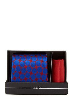 Image of Ted Baker London Devon Dot Silk Tie & Pocket Square Set