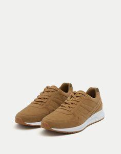Sapatilhas retro cor couro - Ver tudo - Sapatos - Homem - PULL&BEAR Portugal