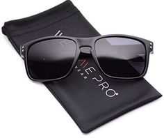 79ae815aed WearMe Pro - Premium Polarized Mirror Lens Classic Wayfarer Style Sunglasses  (Black