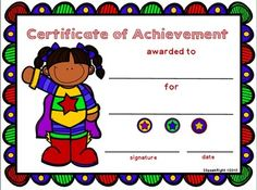 Science rock star award boy certificate these superhero award certificates are perfect for any student for any accomplishment included are eight different templates four boys and four girls with yelopaper Choice Image