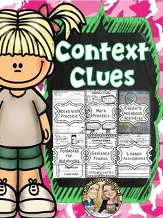 Looking for resources to help your students MASTER Context Clues INCLUDING ASSESSMENT? Look no further! Heres whats included: Lesson Notes- introducing the standard Practice More Practice- Fun Activity Page Foldables for Readers Notebooks Readers Notebook Activities Sentence Frames- for daily practice Assessment Answer Keys Suggested Lesson Plans for Mastering Context Clues in one week