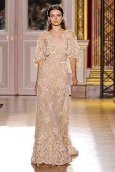 Free Shipping 2014 Custom Made Champagne Lace Vestido de Noiva Zuhair Murad Evening Dresses  $199.99