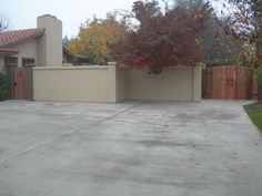Stucco and heavy wood Fencing