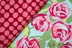 Amy Butler - Love - Tumble Roses & Sunspots ... Pillow Case Dress Fabric.